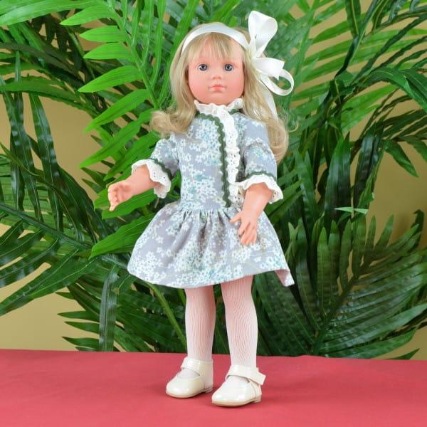 Купить Кукла Asi Нелли - 43 см (в нежно-зеленом платье) в интернет магазине игрушек и детских товаров