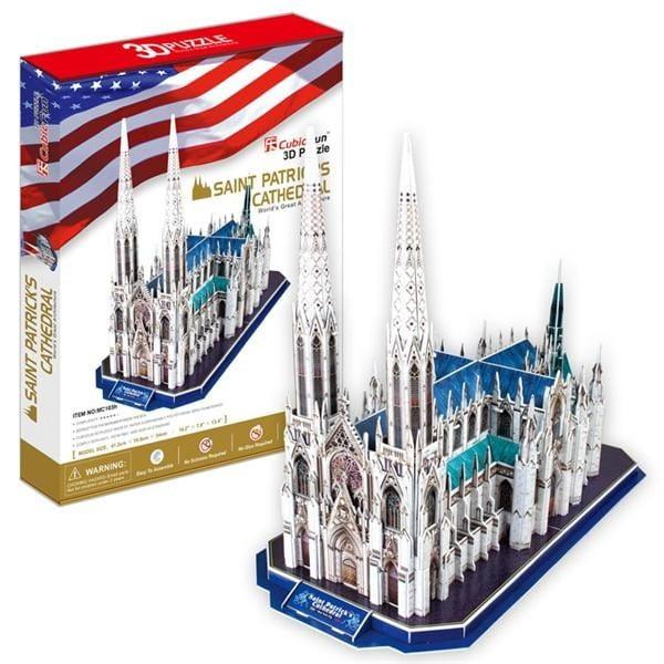 Купить Объемный 3D пазл CubicFun Собор Святого Патрика в США в интернет магазине игрушек и детских товаров