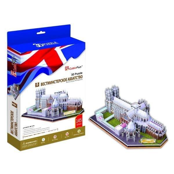 Объемный 3D пазл CubicFun MC121h Вестминстерское аббатство (Великобритания)