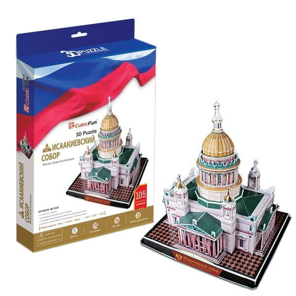 Объемный 3D пазл CubicFun Исаакиевский собор