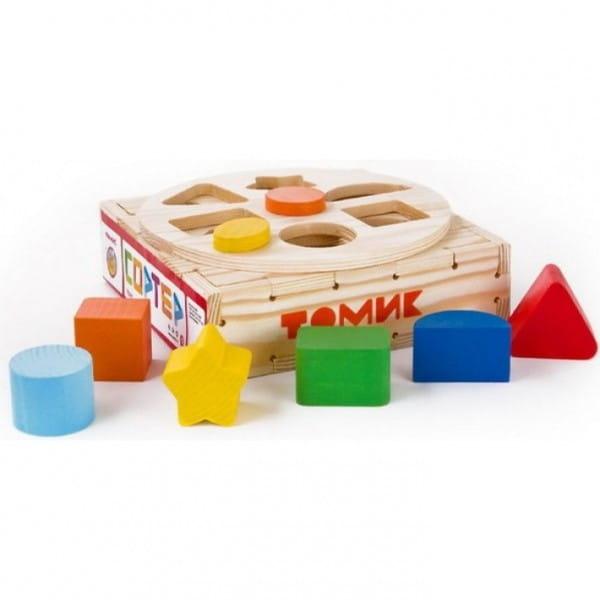 Купить Развивающая игрушка-сортер Томик Круг (7 деталей) в интернет магазине игрушек и детских товаров