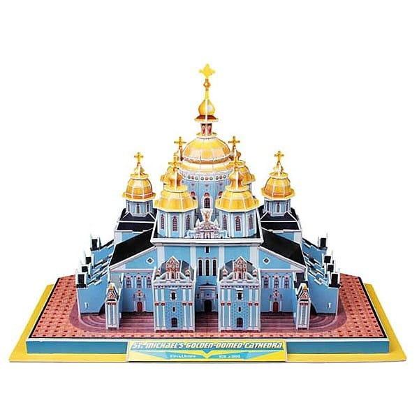 Объемный 3D пазл CubicFun Михайловский златоверхий собор (Украина)