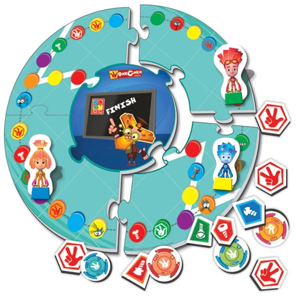 Купить Настольная игра Vladi Toys Фикси Телевизор в интернет магазине игрушек и детских товаров