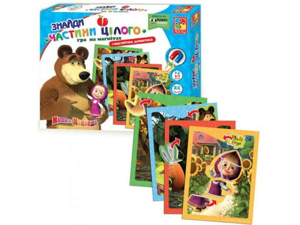 Настольная игра Vladi Toys VT3304-10 Маша и медведь - Найди части целого