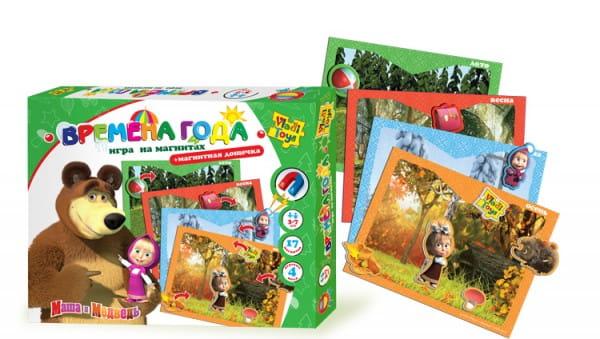 Купить Настольная игра Vladi Toys Маша и медведь - Времена года в интернет магазине игрушек и детских товаров