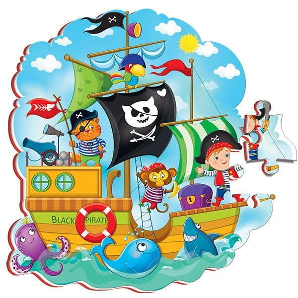 Купить Сюжетные мягкие пазлы Roter Kafer Пираты в интернет магазине игрушек и детских товаров