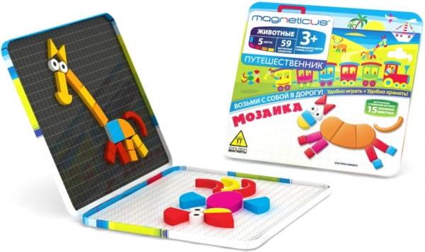 Купить Магнитная мозаика Magneticus Путешественник Животные (59 элементов) в интернет магазине игрушек и детских товаров