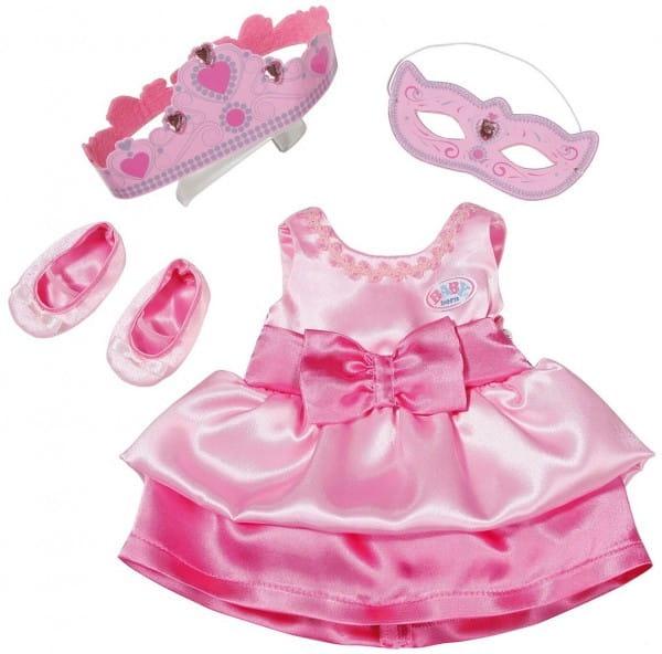 Купить Одежда принцессы Baby born с тиарой (Zapf Creation) в интернет магазине игрушек и детских товаров
