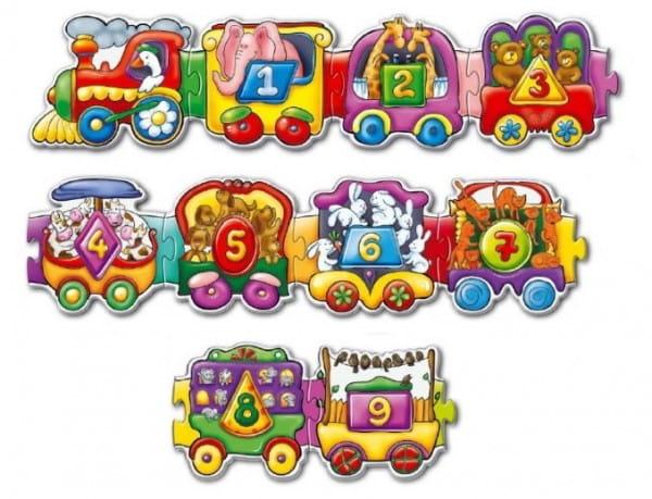 Купить Пазл ToysUnion Веселый паровозик в интернет магазине игрушек и детских товаров