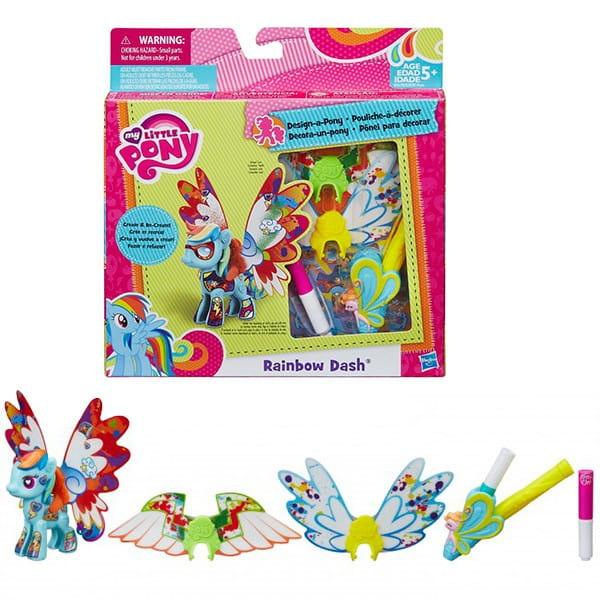 Игровой набор My Little Pony с крыльями Создай свою пони - Радуга Rainbow Dash (Hasbro)