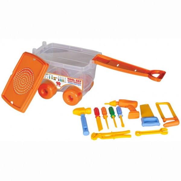 Купить Игровой набор Pilsan Инструменты Tool set (в тележке) в интернет магазине игрушек и детских товаров