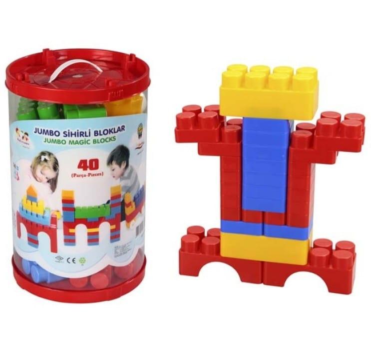 Конструктор Jumbo Magic Blocks - 40 деталей (Pilsan)