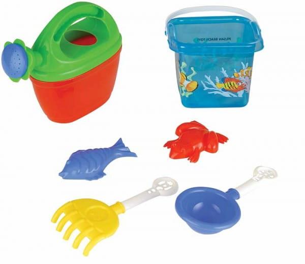 Купить Игровой набор Pilsan Для песочницы - 6 предметов (с лейкой) в интернет магазине игрушек и детских товаров