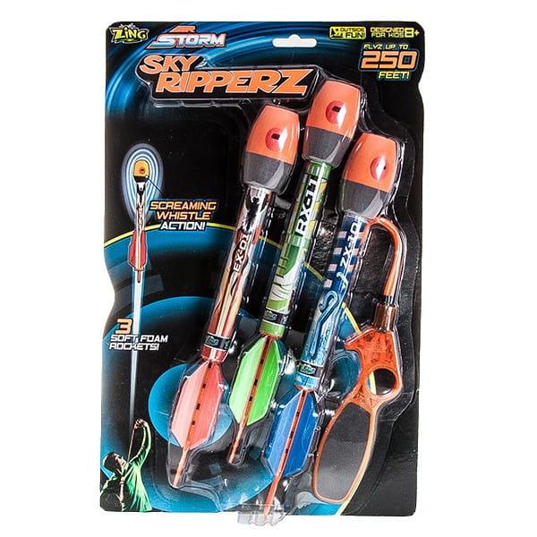 Свистящие ракеты Zing с пусковым устройством (3 штуки)
