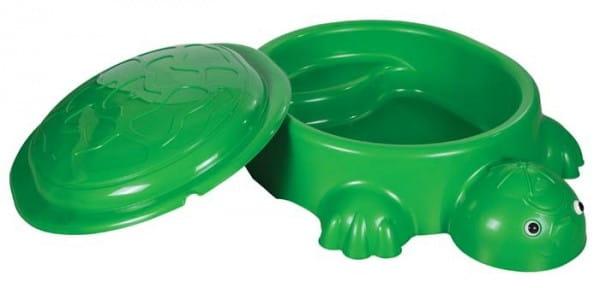 Купить Песочница Pilsan Черепаха с крышкой и игрушками в интернет магазине игрушек и детских товаров