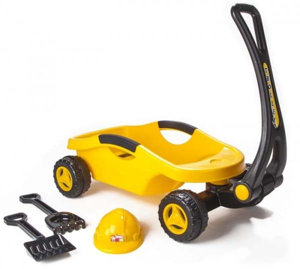 Купить Строительная тележка Pilsan (с каской и лопатками) в интернет магазине игрушек и детских товаров