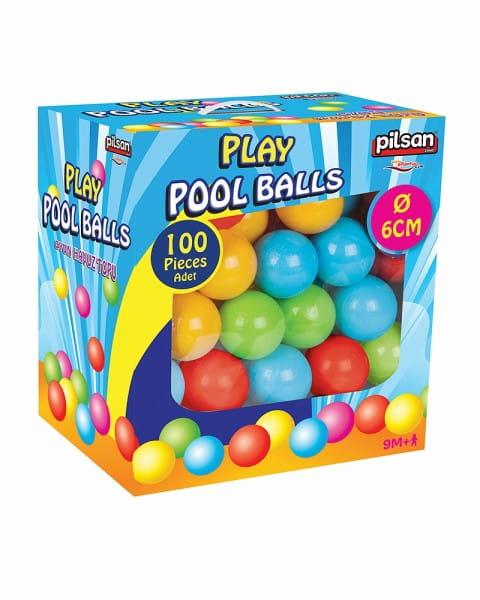Купить Шарики для сухого бассейна Pilsan 6 см - 100 штук (в коробке) в интернет магазине игрушек и детских товаров