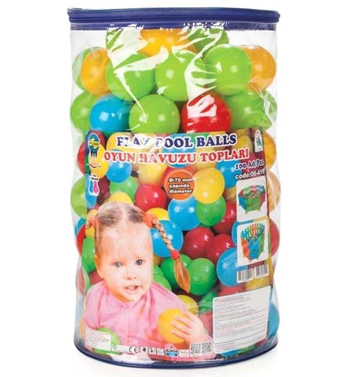 Шарики для сухого бассейна Pilsan 6410plsn 7 см - 100 штук (в пакете-сумке)