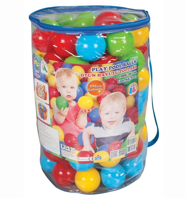 Шарики для сухого бассейна Pilsan 6154plsn 9 см - 100 штук (в пакете-сумке)