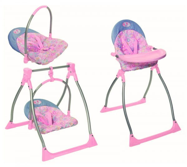 Купить Стульчик, качели и переноска Baby born 3 в 1 (Zapf Creation) в интернет магазине игрушек и детских товаров