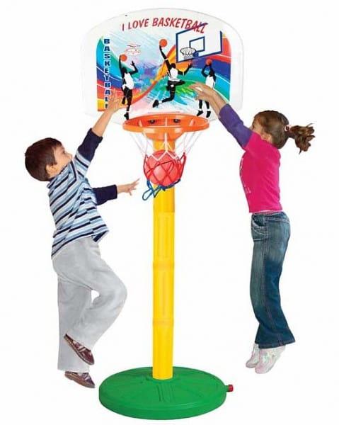 Купить Баскетбольное кольцо Pilsan (регулируемое по высоте) в интернет магазине игрушек и детских товаров