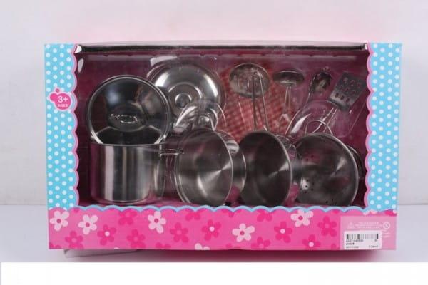 Купить Игровой набор посуды Shantou Gepai Металический - 8 предметов в интернет магазине игрушек и детских товаров