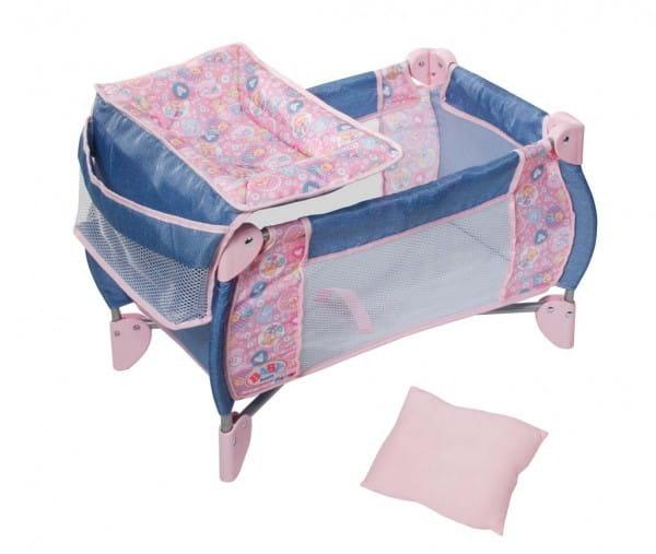 Купить Складная кроватка Baby born (Zapf Creation) в интернет магазине игрушек и детских товаров