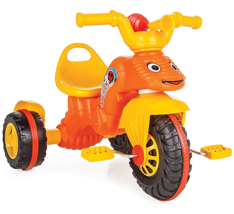Детский трехколесный велосипед Pilsan 7163plsn Bunny с ручкой управления - оранжевый