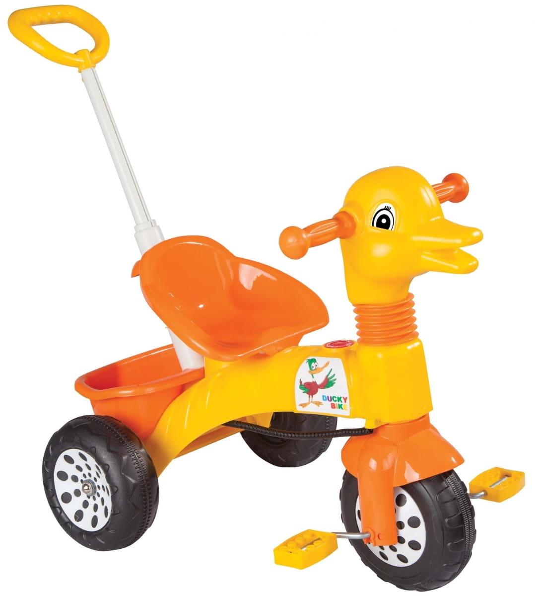 Детский трехколесный велосипед Pilsan Ducky с регулируемой ручкой