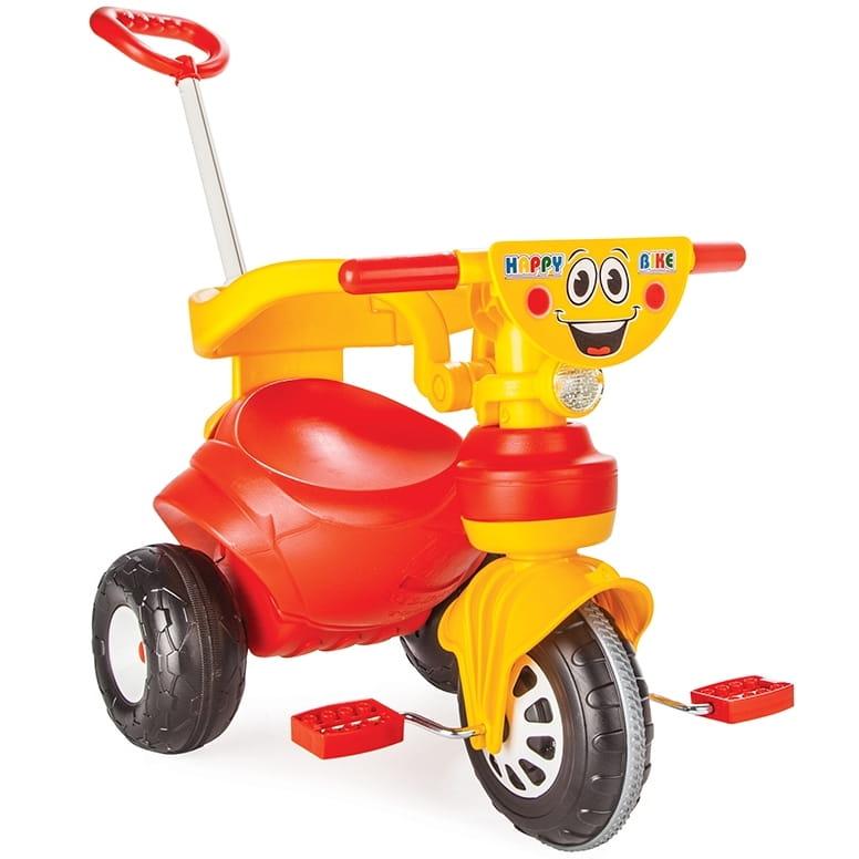 Детский трехколесный велосипед Pilsan 7165plsn Happy с ручкой управления