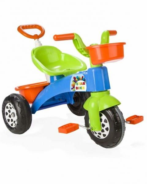 Детский трехколесный велосипед Pilsan Smart с регулируемой ручкой