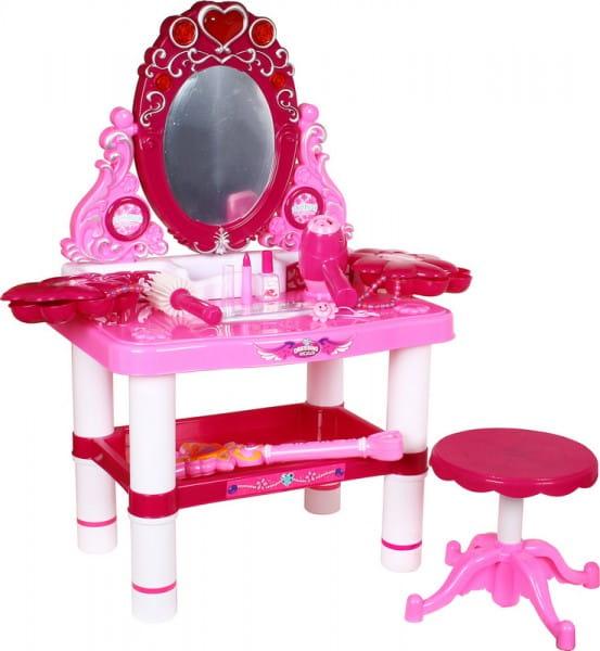 Купить Студия красоты со стульчиком Metr (с аксессуарами для парикмахерской) в интернет магазине игрушек и детских товаров