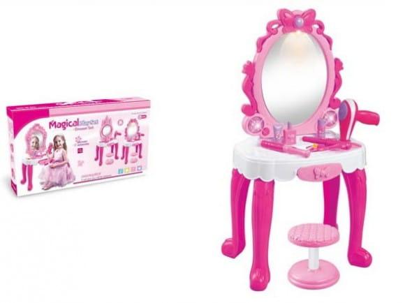 Купить Туалетный столик со стульчиком Metr с аксессуарами в интернет магазине игрушек и детских товаров