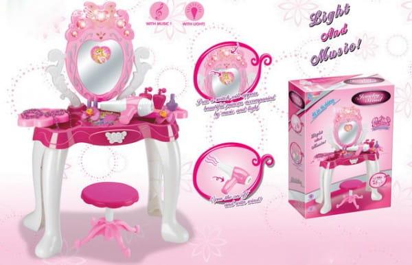 Купить Туалетный столик со стульчиком Metr (со звуковыми и световыми эффектами) в интернет магазине игрушек и детских товаров