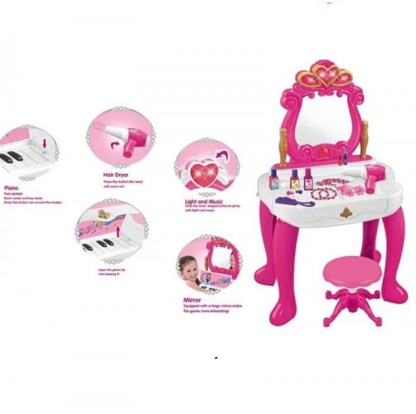 Купить Студия красоты со стульчиком Metr (с пианино) в интернет магазине игрушек и детских товаров