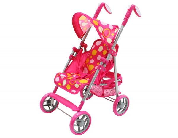 Купить Коляска трость Boomggy Boom с корзиной (розовая) в интернет магазине игрушек и детских товаров
