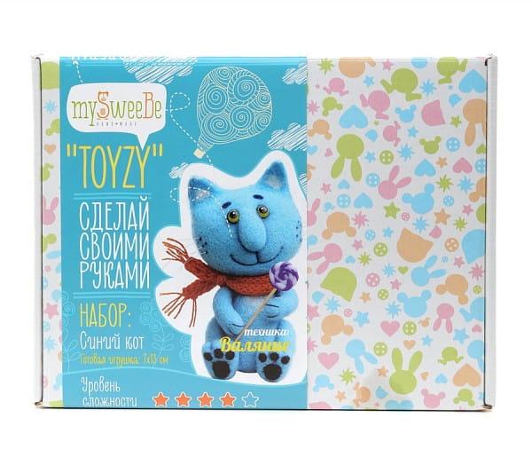 Набор для валяния из шерсти Toyzy TZ-F004 Синий кот