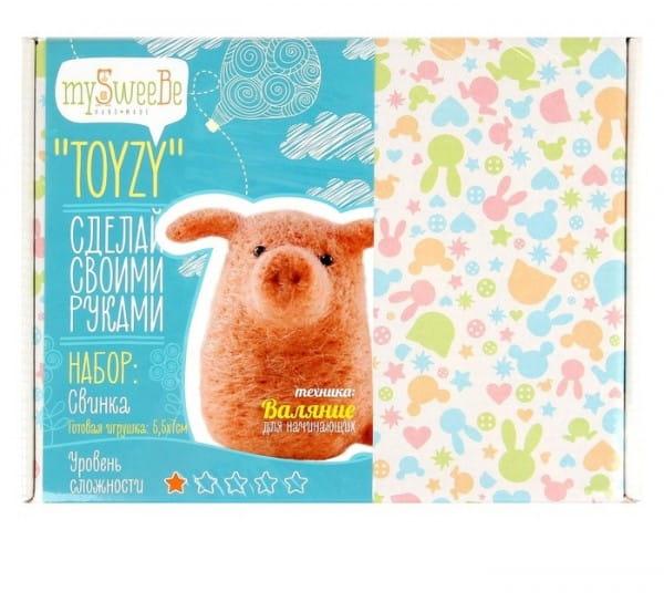 Набор для валяния из шерсти Toyzy TZ-F012 Свинка