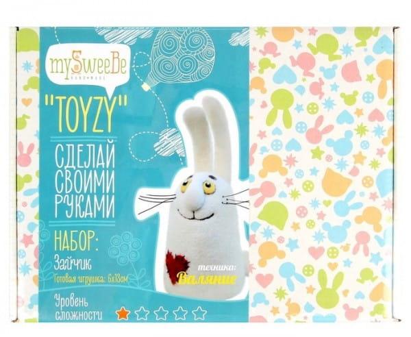 Набор для валяния из шерсти Toyzy TZ-F015 Зайчик