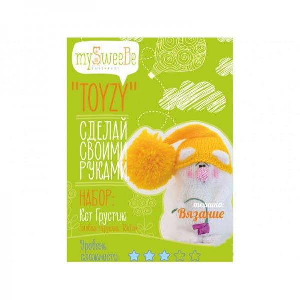 Набор для вязания из шерсти Toyzy TZ-K001 Кот Грустик