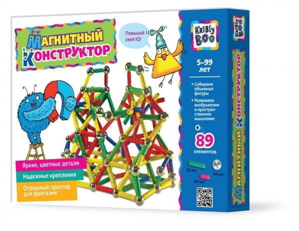 Купить Магнитный конструктор Kribly Boo (89 деталей) в интернет магазине игрушек и детских товаров