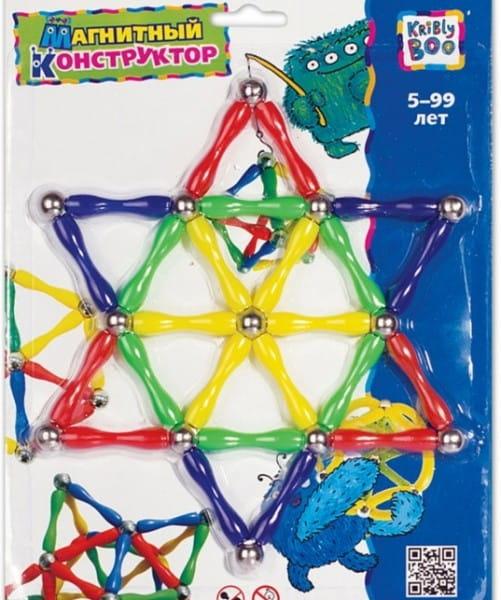 Купить Магнитный конструктор Kribly Boo Звезды (37 деталей) в интернет магазине игрушек и детских товаров