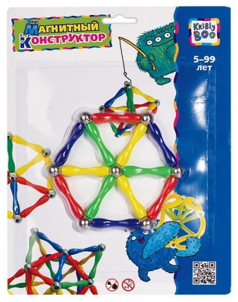 Купить Магнитный конструктор Kribly Boo Шестиугольники в интернет магазине игрушек и детских товаров