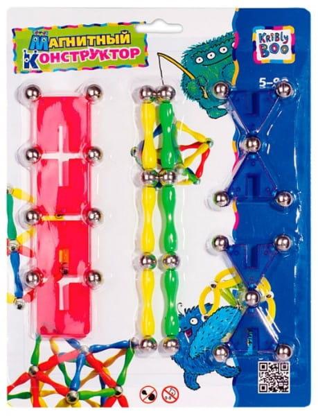Купить Магнитный конструктор Kribly Boo Фигуры 1 в интернет магазине игрушек и детских товаров