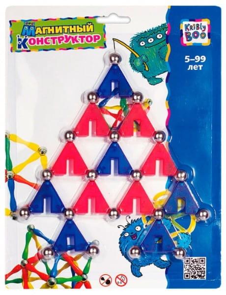 Купить Магнитный конструктор Kribly Boo Треугольники в интернет магазине игрушек и детских товаров