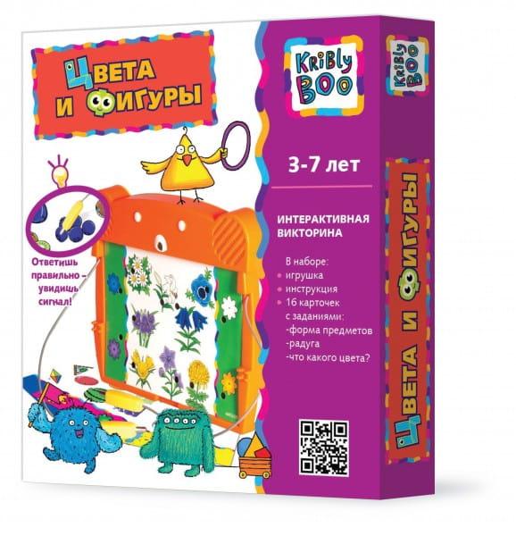 Купить Электровикторина Kribly Boo Цвета и фигуры в интернет магазине игрушек и детских товаров