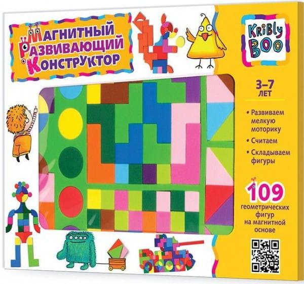 Купить Магнитный конструктор Kribly Boo (109 деталей) в интернет магазине игрушек и детских товаров