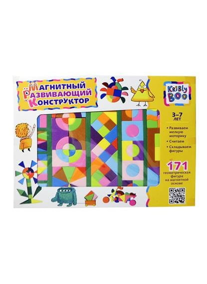 Купить Магнитный конструктор Kribly Boo (171 деталь) в интернет магазине игрушек и детских товаров