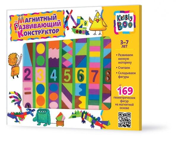 Купить Магнитный конструктор Kribly Boo (169 деталей) в интернет магазине игрушек и детских товаров
