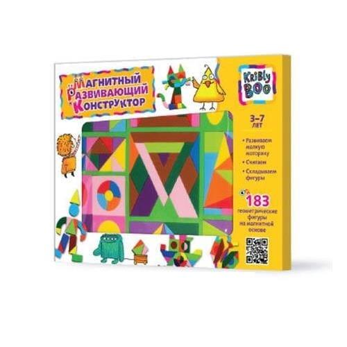 Купить Магнитный конструктор Kribly Boo (183 детали) в интернет магазине игрушек и детских товаров